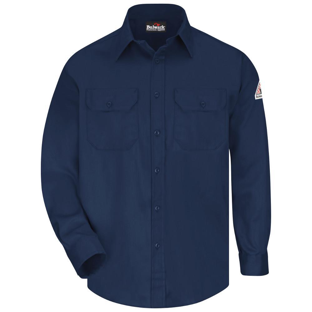 EXCEL FR ComforTouch Men's X-Large Navy Uniform Shirt