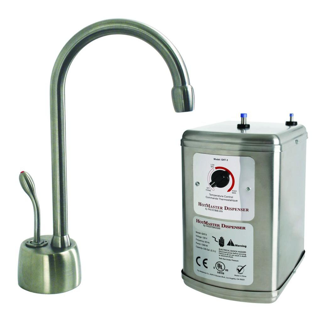 Velosah Single Handle Hot Water Dispenser Faucet With Hot Water Tank In  Stainless Steel