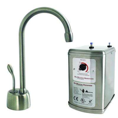 Velosah Single-Handle Hot Water Dispenser Faucet with Hot Water Tank in Stainless Steel