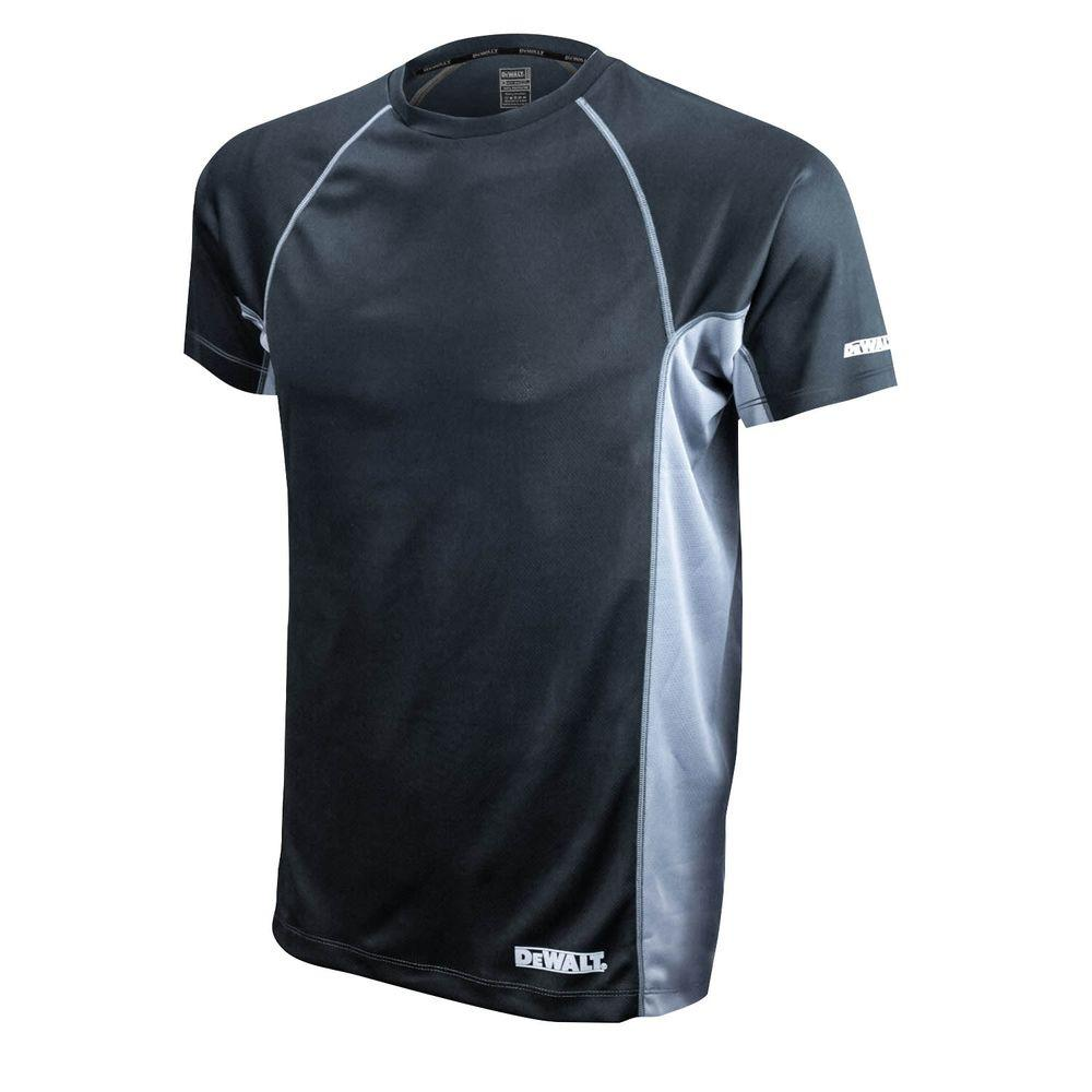Men's Large Black and Gray Short Sleeve Performance T-Shirt