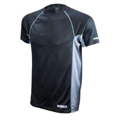 Men's 5X-Large Black and Gray Short Sleeve Performance T-Shirt
