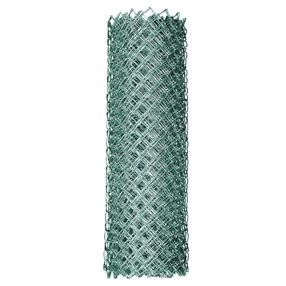 YARDGARD 4 ft. x 50 ft. 11.5-Gauge Galvanized Steel Chain Link ...