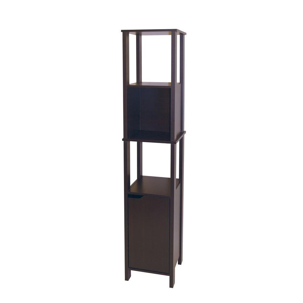 Neu Home Ambassador 14.13 in. W Wood High Cabinet in Espresso