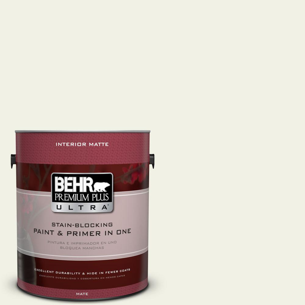 1 gal. #PPL-57 White Smoke Matte Interior Paint and Primer in