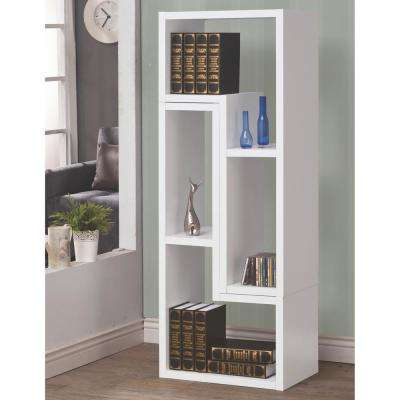Milz White Bookcase