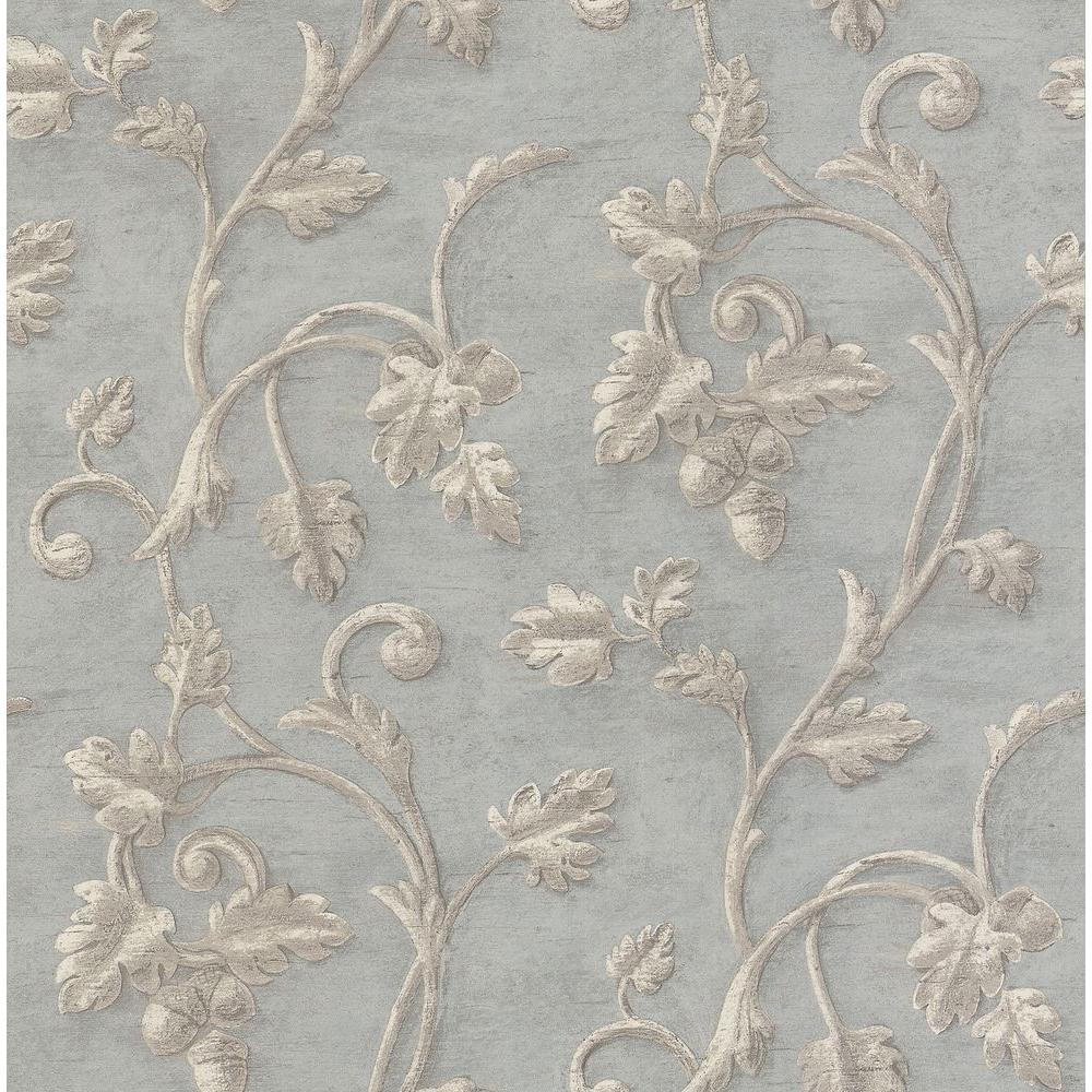 Brewster 8 in. W x 10 in. H Scroll Print Wallpaper Sample-DISCONTINUED