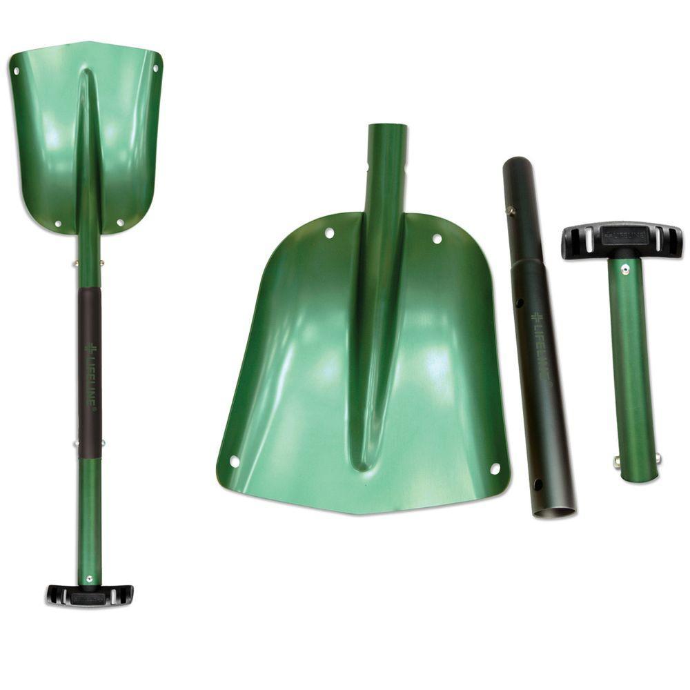 Lifeline 25 in. to 32 in. Adjustable Green Aluminum Emergency Sport Utility Shovel (2-Pack)