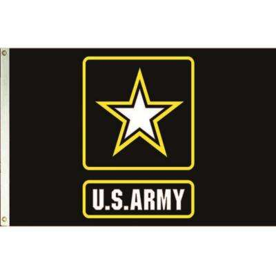 3 ft. x 5 ft. Nylon U.S. Army Star Logo Armed Forces Flag
