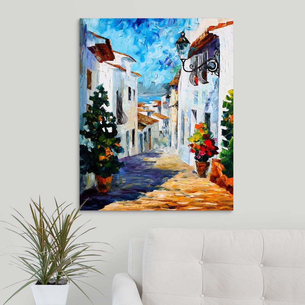 """""""Greek Mood"""" by Leonid Afremov Canvas Wall Art"""