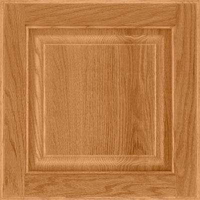 13 in. x 12-7/8 in. Cabinet Door Sample in Olmsted Oak Honey