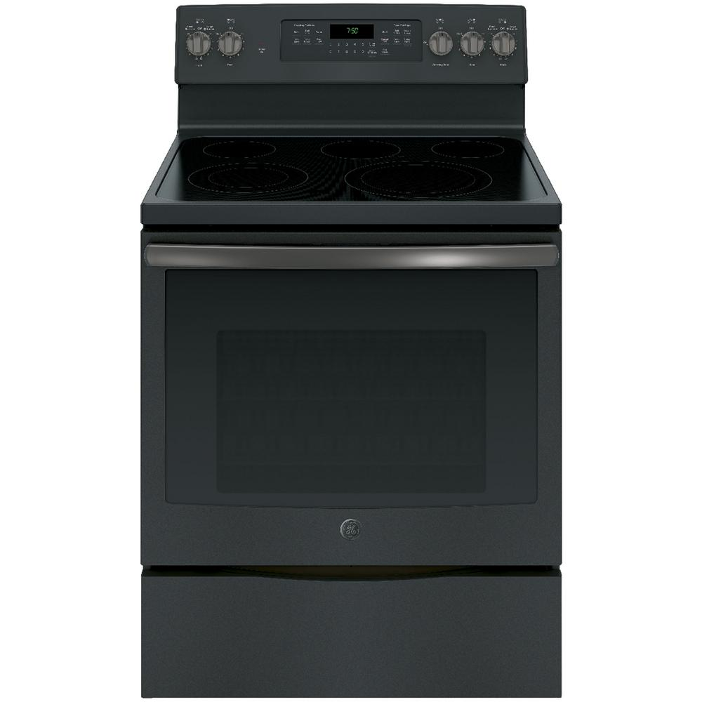 5.3 cu. ft. Electric Range with Self-Cleaning Convection Oven in Black