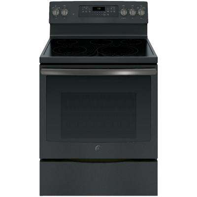 5.3 cu. ft. Electric Range with Self-Cleaning Convection Oven in Black Slate, Fingerprint Resistant