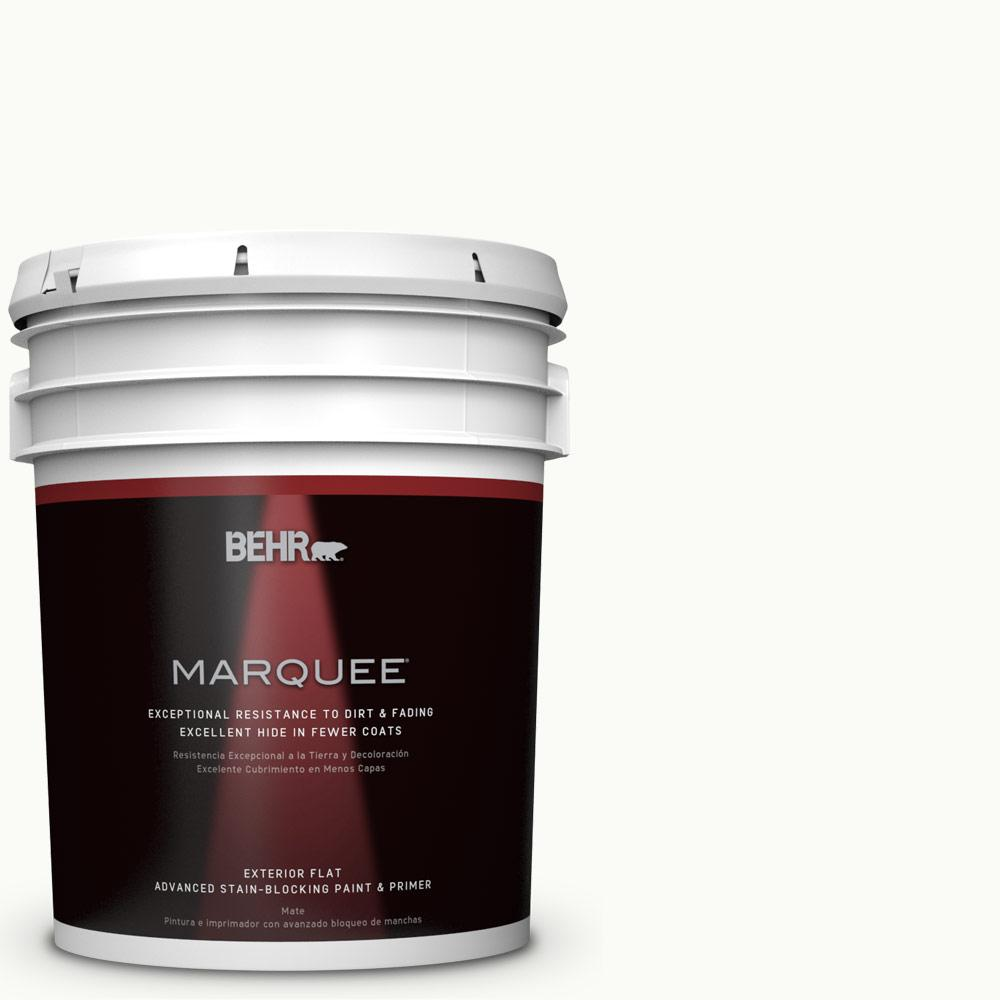 BEHR MARQUEE 5 gal. #PPU18-6 Ultra Pure White Flat Exterior Paint
