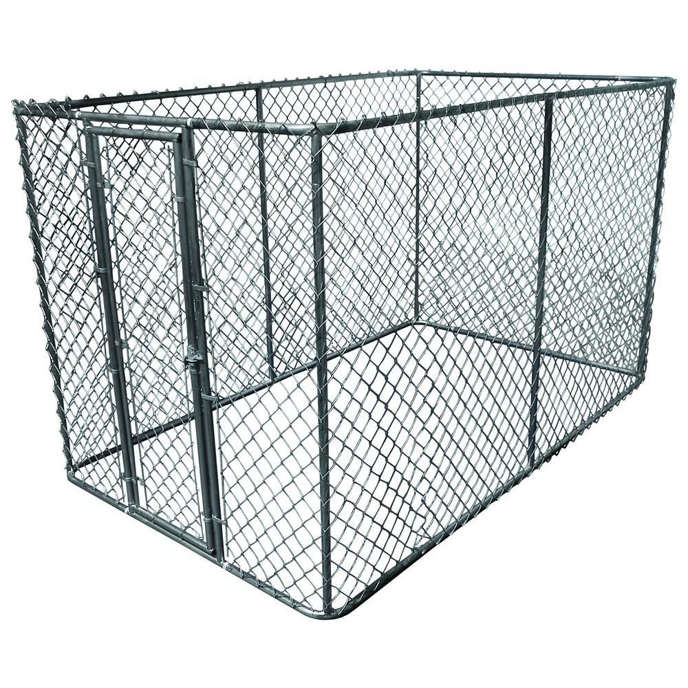 K-9 Kwik Dog Kennel 6 ft. x 10 ft. x 6 ft. Galvanized Steel Boxed Kennel Kit