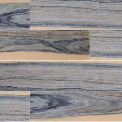 Sardinia Azul 48 in. x 8 in. Polished Porcelain Floor and Wall Tile (10.68 sq. ft./Case)