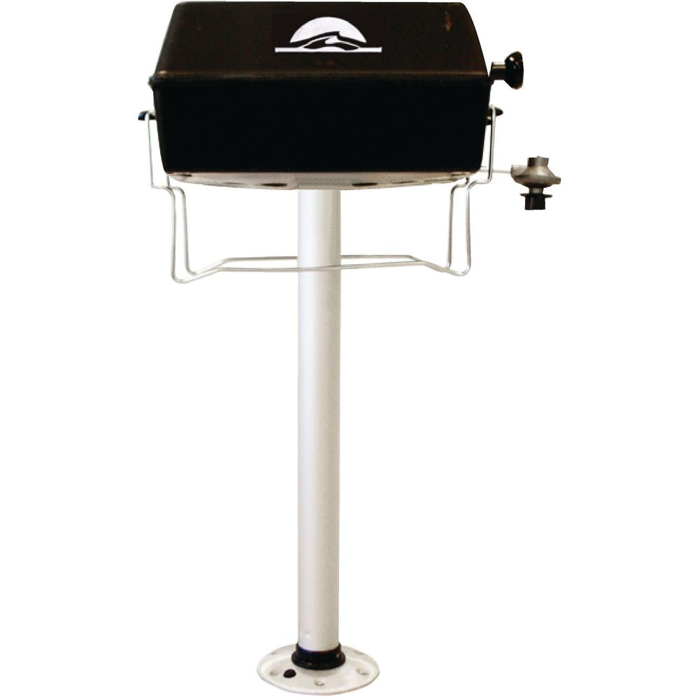 1-Burner Portable Propane Gas Grill With Thread Lock 29 in. Post