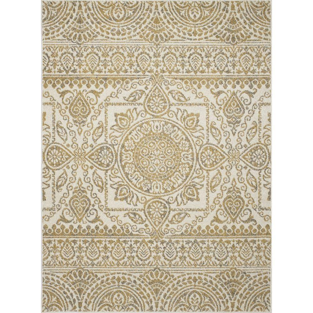 New Casa Aubosson Yellow 2 ft. 7 in. x 4 ft.