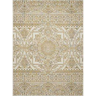 New Casa Aubosson Yellow 8 ft. x 11 ft. Area Rug
