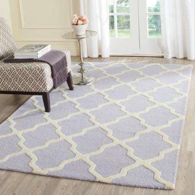 Delightful Cambridge Lavender/Ivory 5 Ft. X 8 Ft. Area Rug