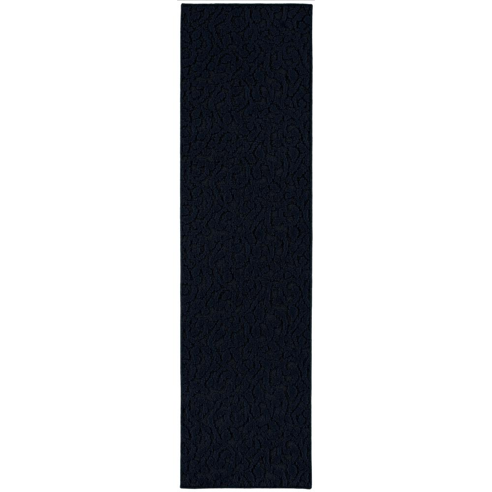 Ivy 3 Ft. x 12 Ft. Area Rug Runner Dark Blue