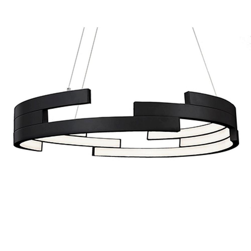 Kara 1-Light 60-Watt Equivalence Black Integrated LED Pendant