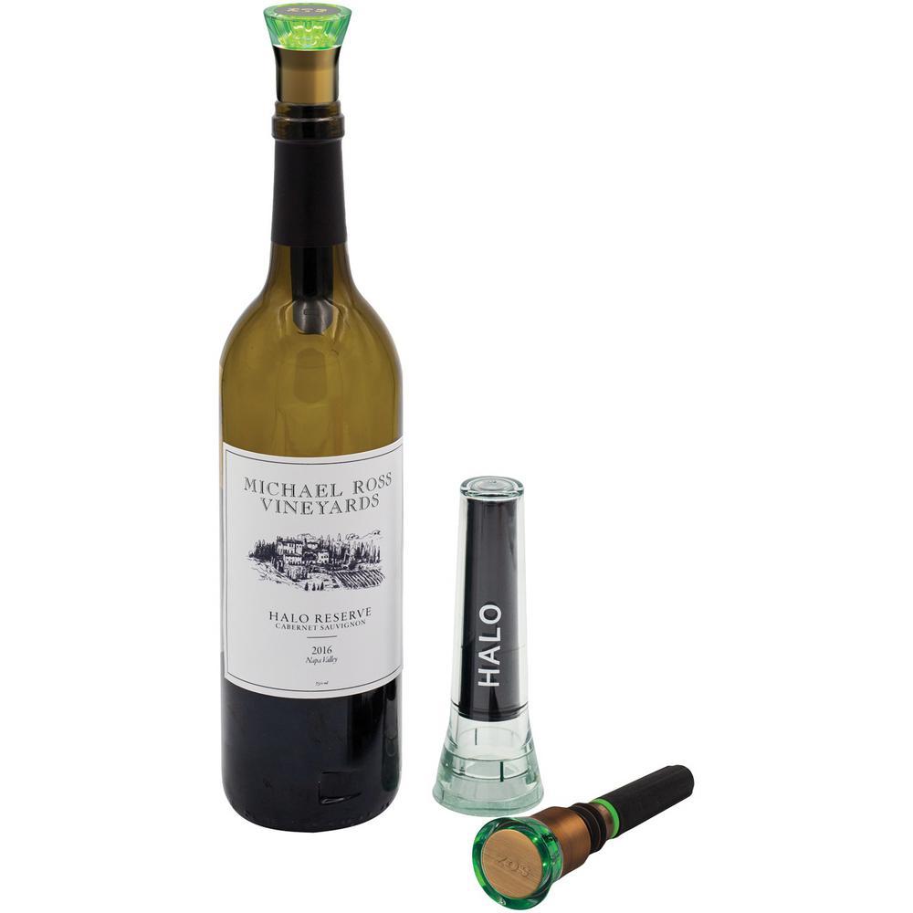 Zos Halo Wine Preserver In Satin Bronze Sl 900 The Home Depot