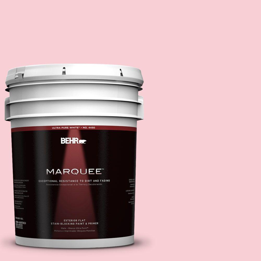 BEHR MARQUEE 5-gal. #130A-2 Fading Rose Flat Exterior Paint