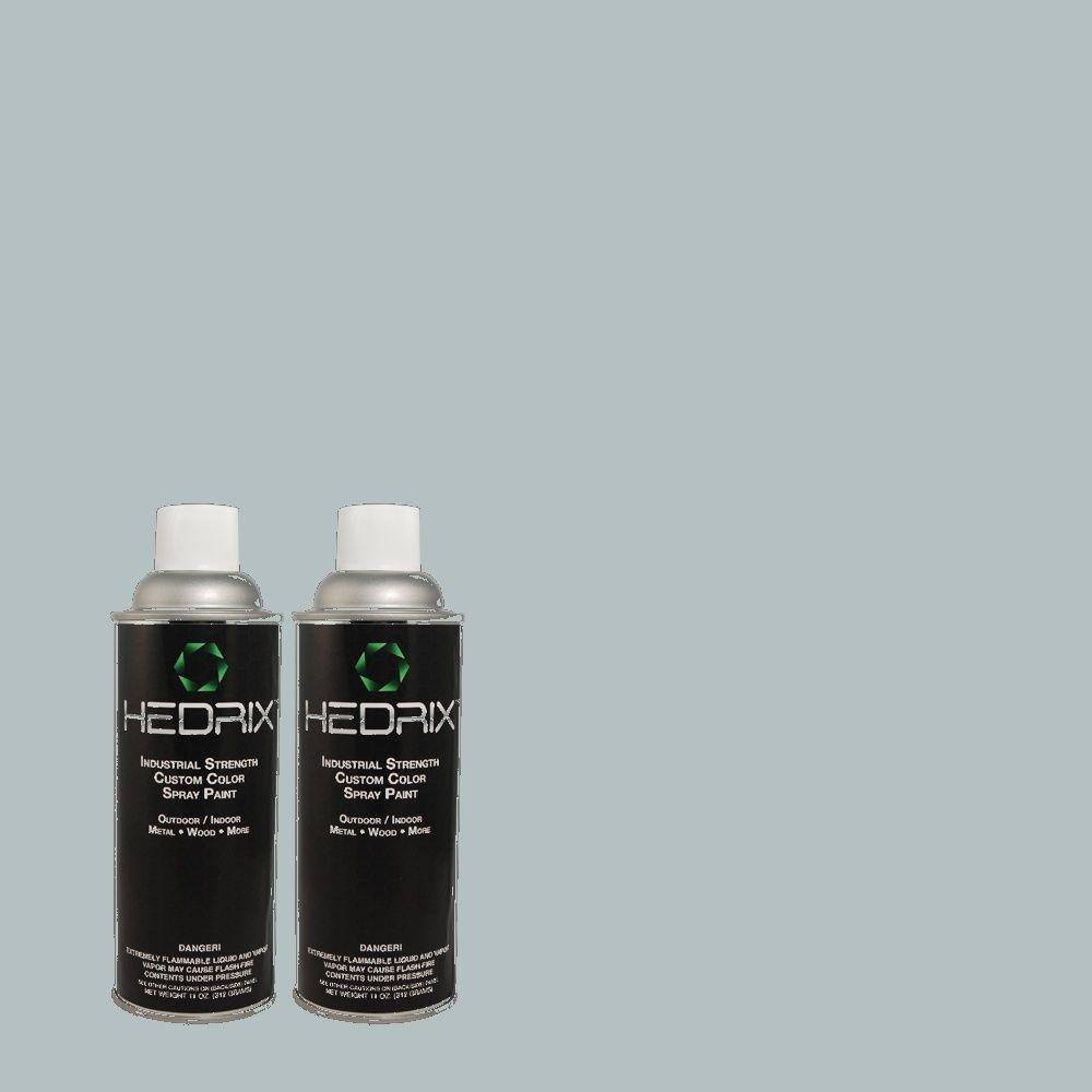 Hedrix 11 oz. Match of PPU13-11 Clear Vista Semi-Gloss Custom Spray Paint (8-Pack)