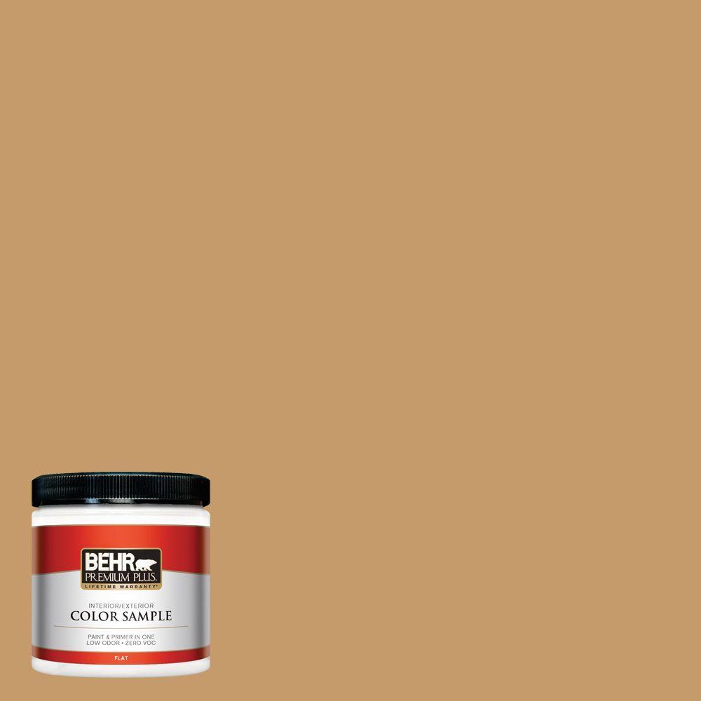 BEHR Premium Plus 8 oz. #S290-5 Amber Autumn Interior/Exterior Paint Sample