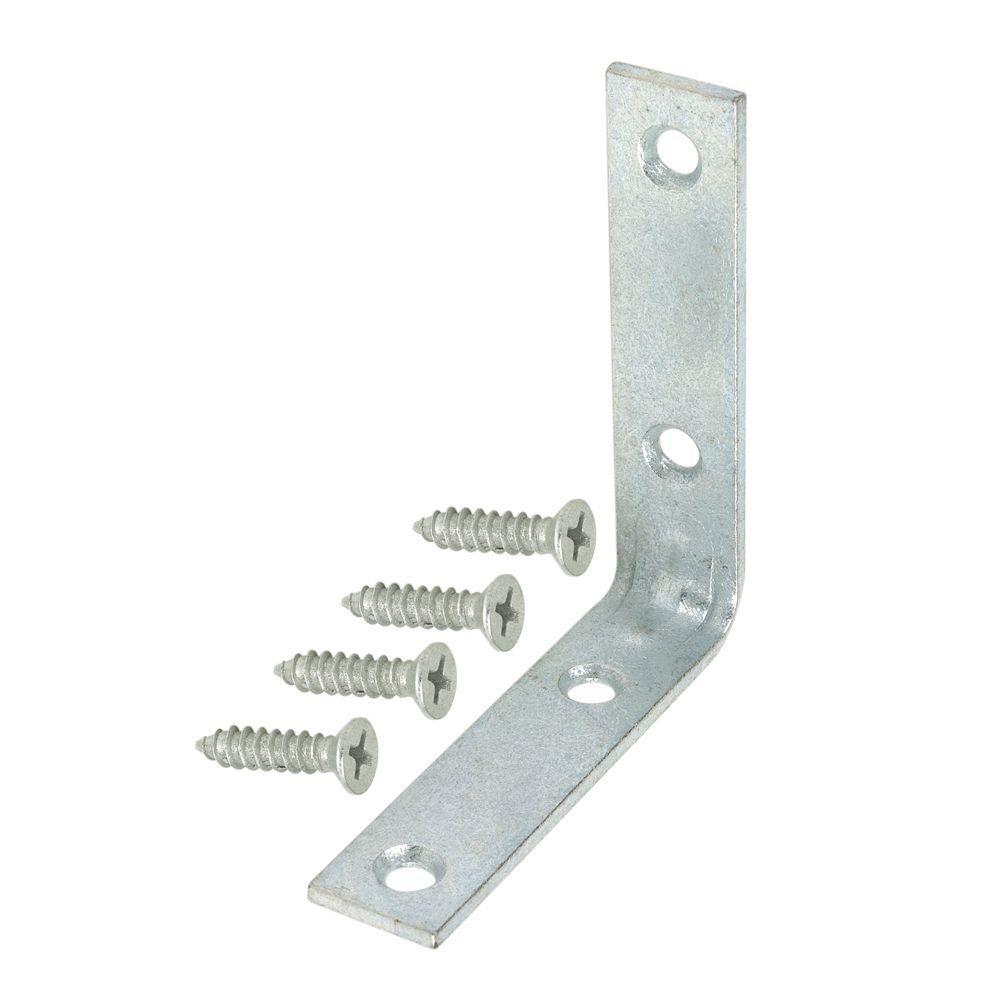 Everbilt 2-1/2 in. Galvanized Corner Braces (4-Pack)