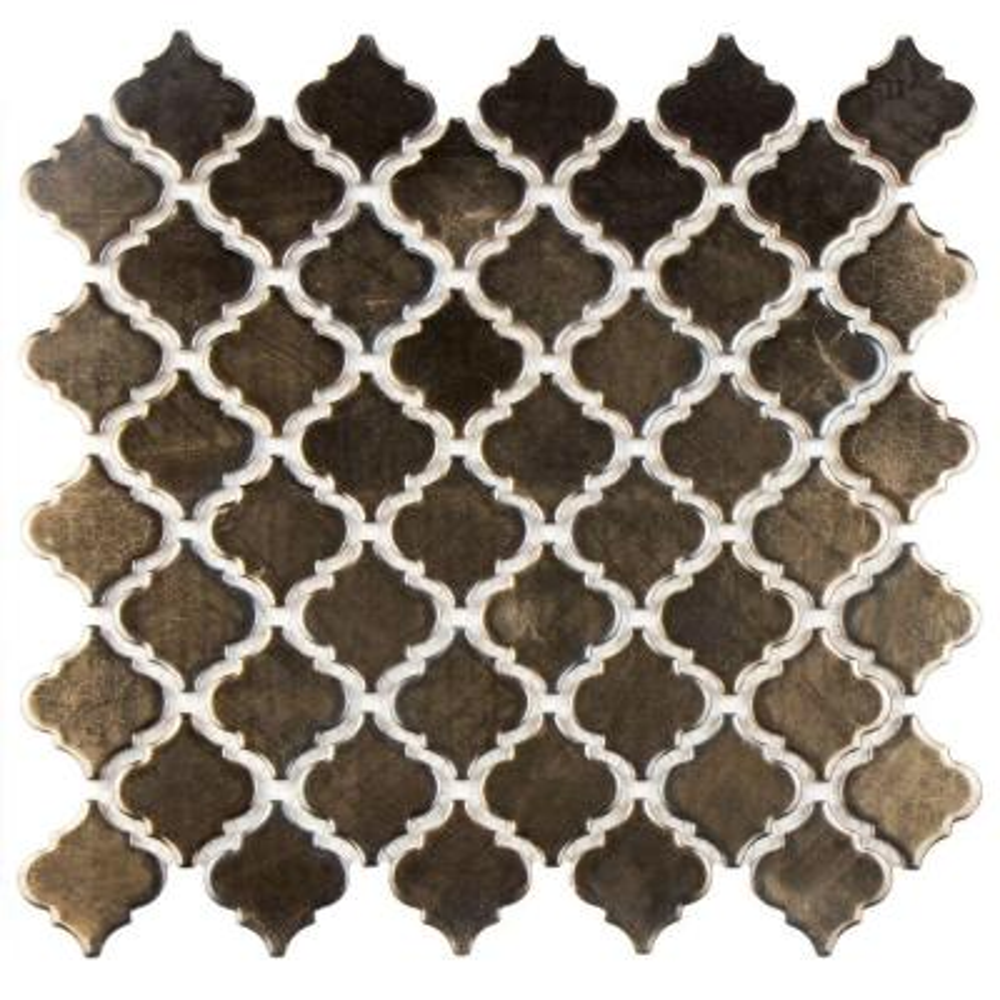 Hudson Tangier Gold 12-3/8 in. x 12-1/2 in. x 5 mm Porcelain Mosaic Tile