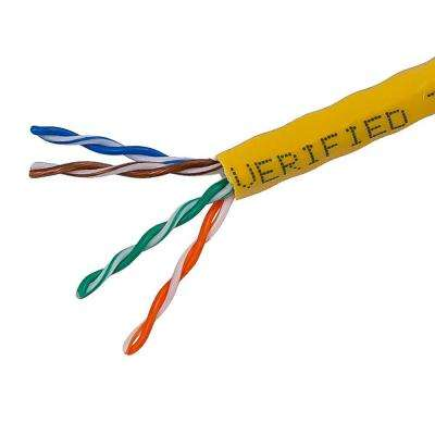 TygerWire Category 5 1000 ft. Yellow 24-4 Unshielded Twist Pair Cable with FT4 Rated