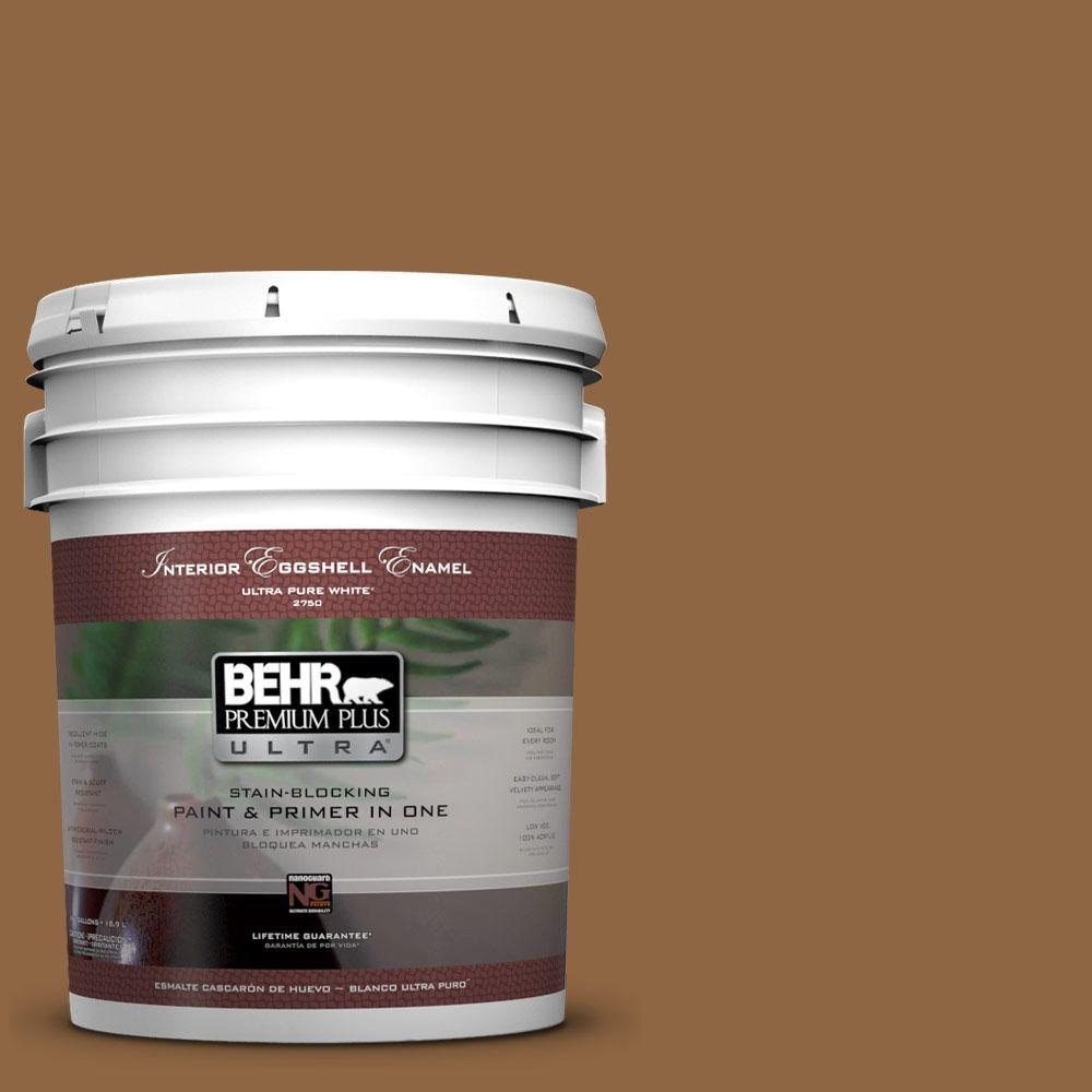 BEHR Premium Plus Ultra 5-gal. #270F-7 English Saddle Eggshell Enamel Interior Paint