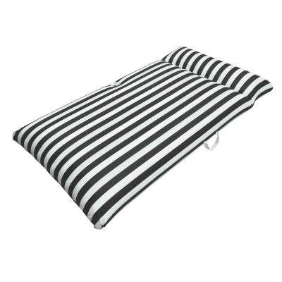 Morgan Dwyer Signature Series Pool Chaise Mattress - Black Luxury Fabric Float for Swimming Pools
