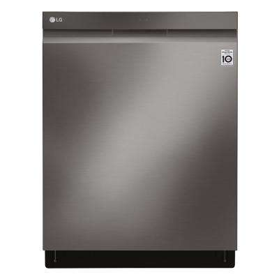 24 in. in PrintProof Black Stainless Steel Top Control Build-in Smart Dishwasher with QuadWash and Wi-Fi Enabled, 44 dBA