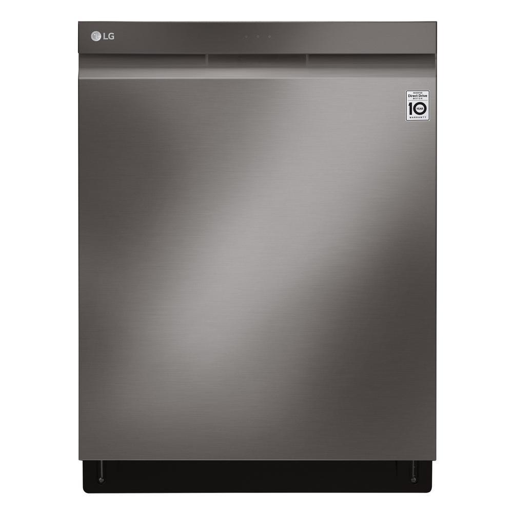 24 in. Top Control Built-In Dishwasher in PrintProof Black Stainless Steel w/ QuadWash, EasyRack Plus, TrueSteam, 42 dBA