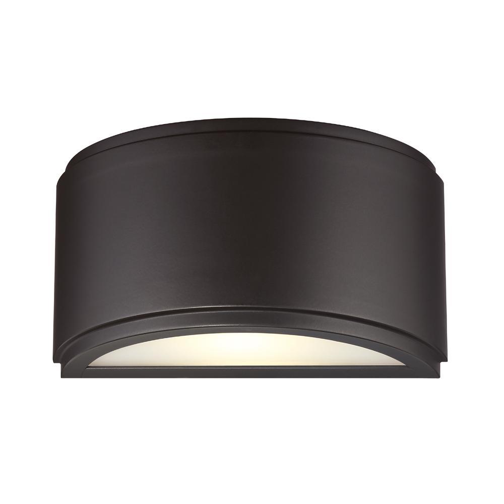 Halsey 13-Watt Oil Rubbed Bronze Indoor/Outdoor Integrated LED Wall Mount Lantern