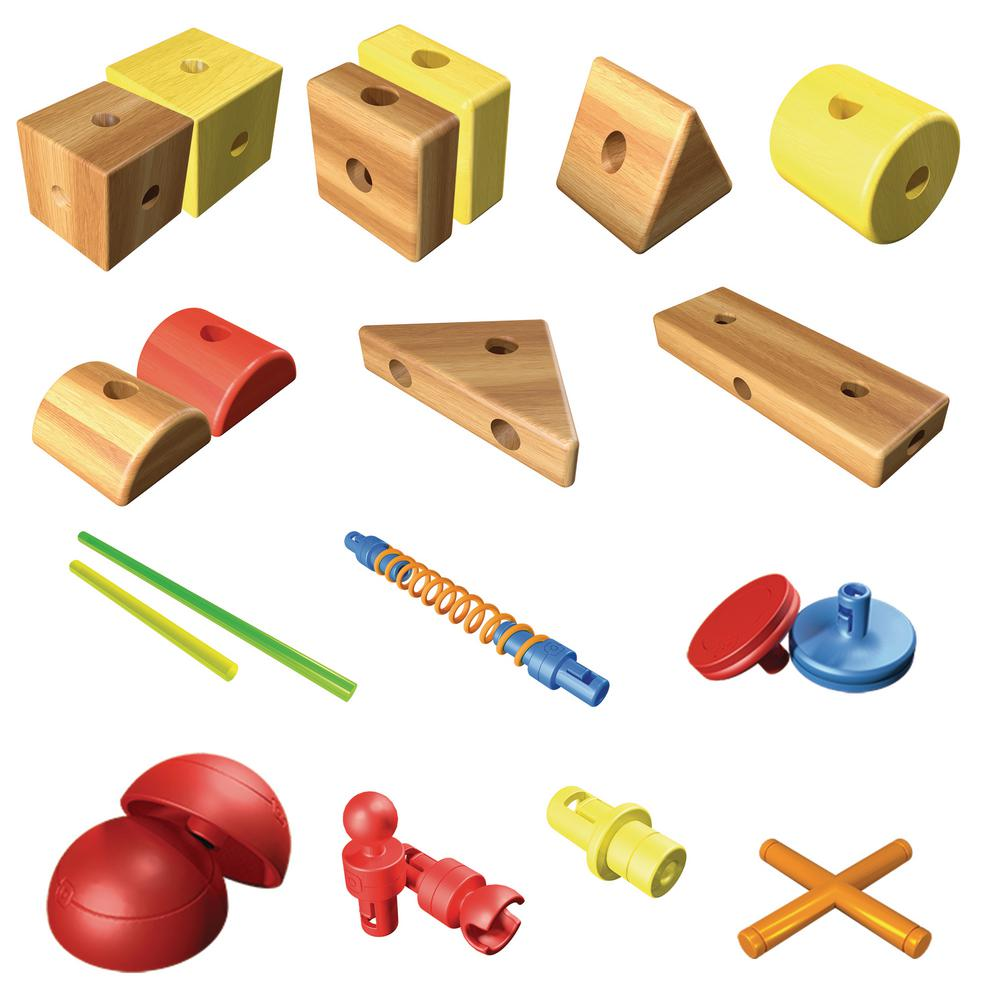 smarty parts toy builder set 75 piece blip39328 the home depot
