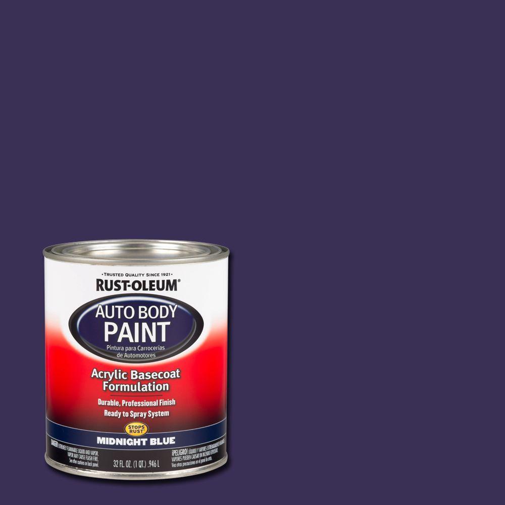 Rust-Oleum Automotive 1 qt. Midnight Blue Auto Body Acrylic Paint (2-Pack)
