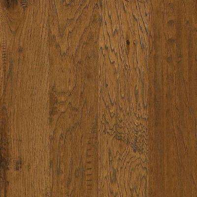 Take Home Sample - Western Hickory Espresso Click Hardwood Flooring - 5 in. x 8 in.