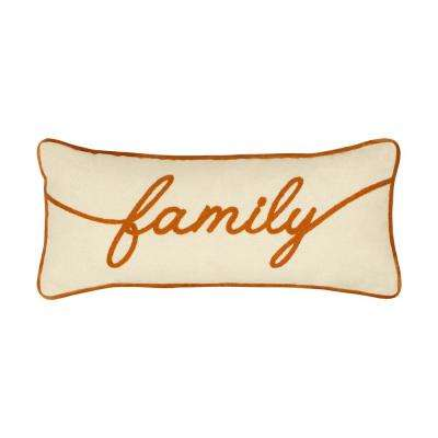 Family Embroidered Thanksgiving Pillow