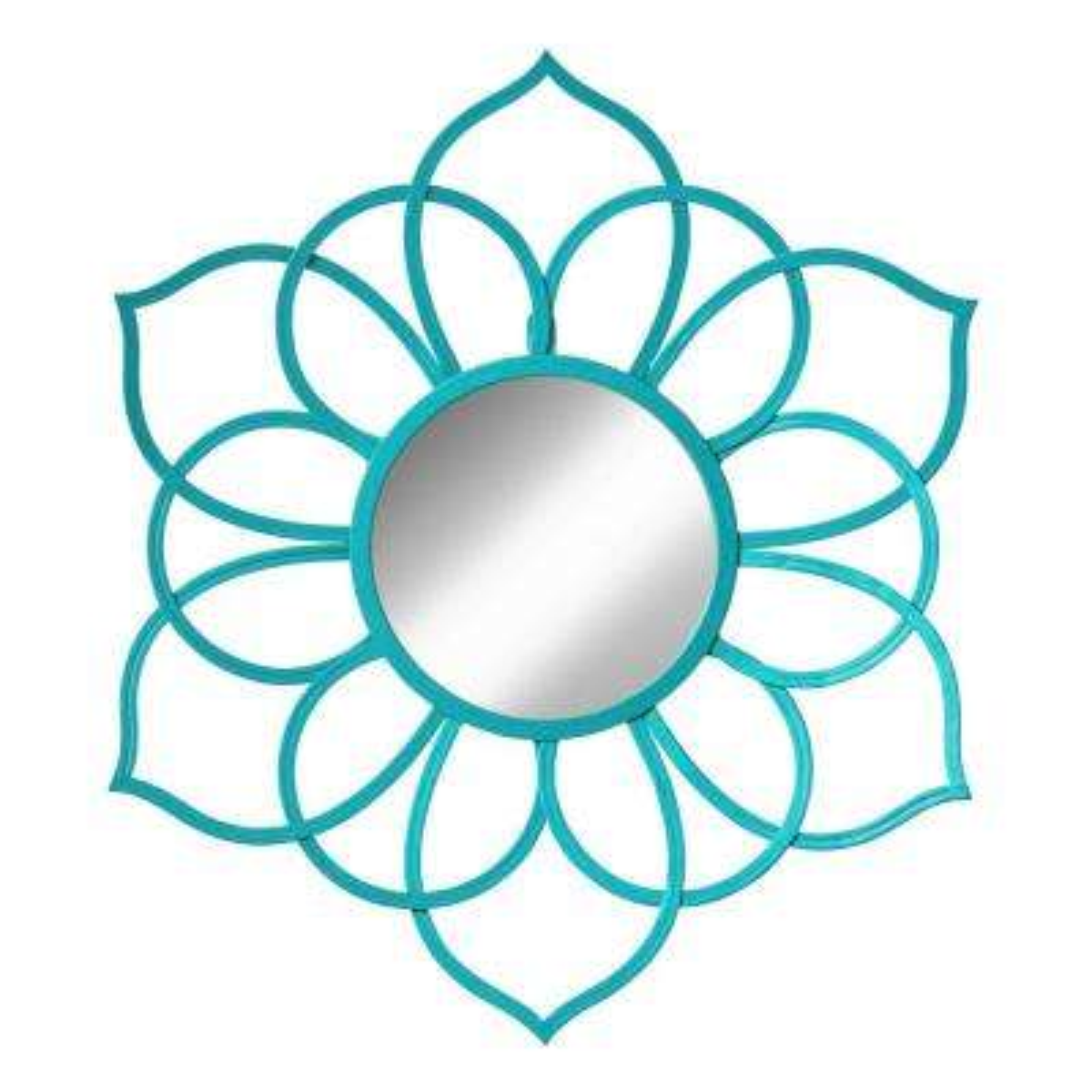 Brienne Flower Teal Mirror