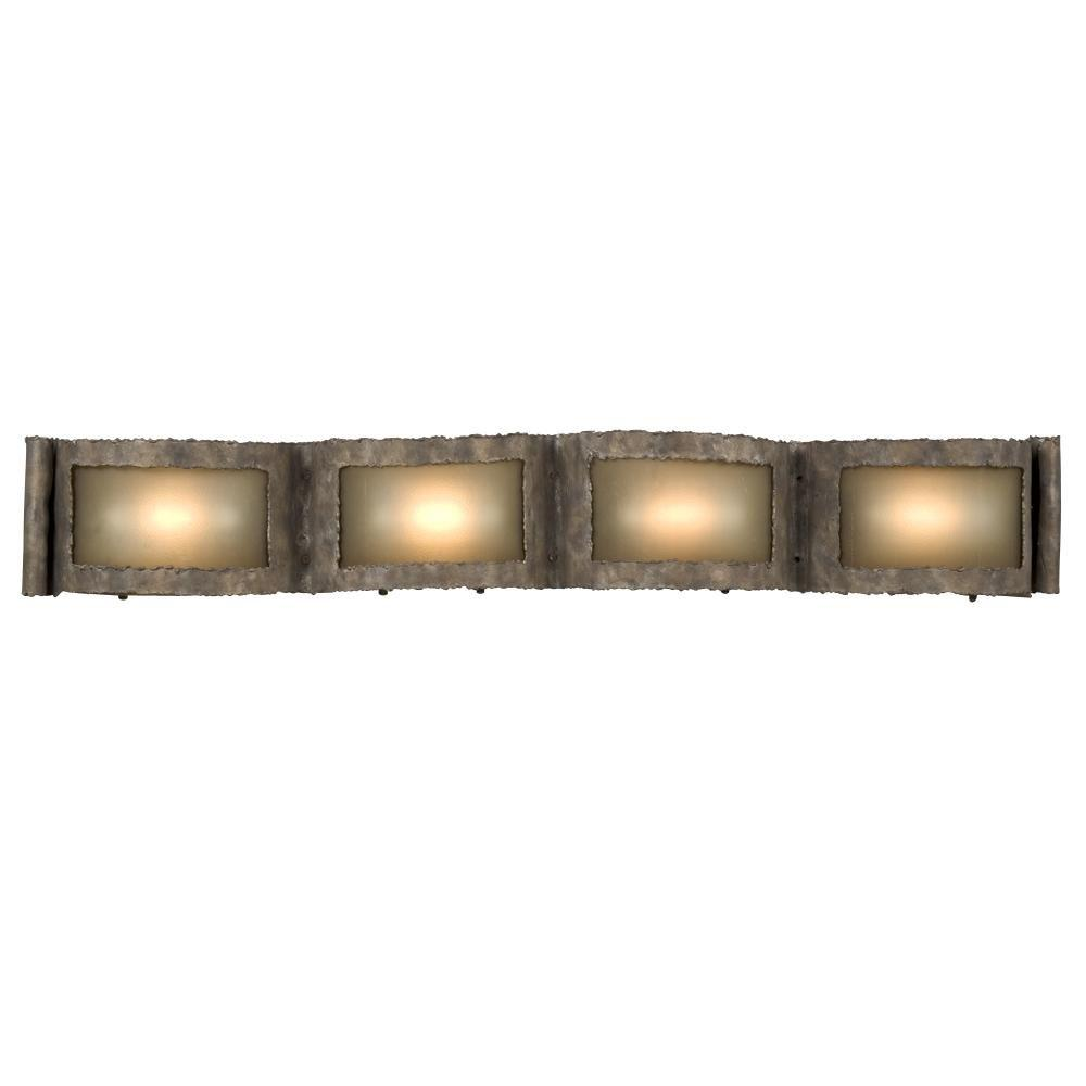 Negron 4-Light Bed Rock Halogen Bath Vanity Light