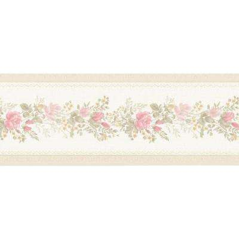 Alexa Pink Floral Meadow Wallpaper Border