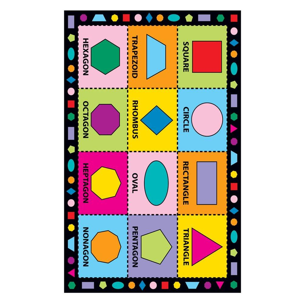 Fun Time Shapes Multi Colored 39 in. x 58 in. Area