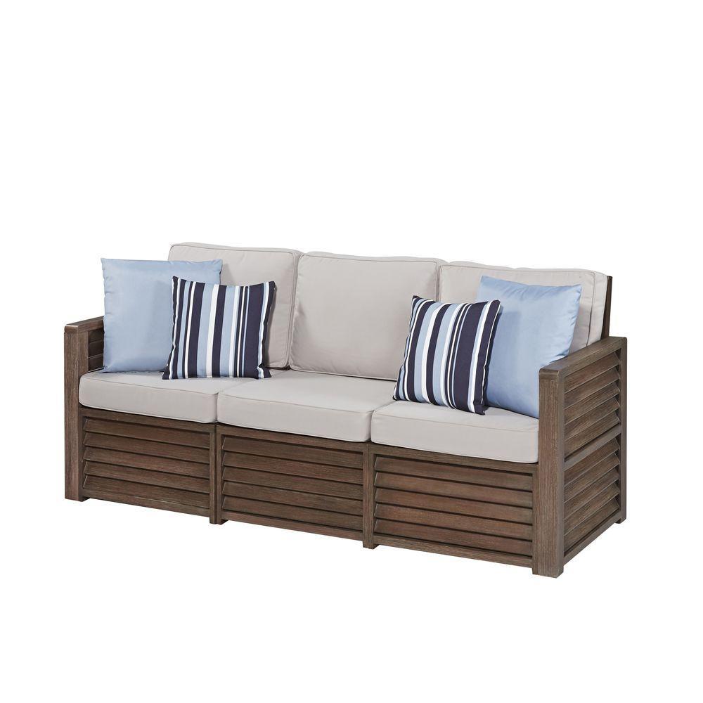 Home Decorators Collection Riemann Blue Polyester Sofa