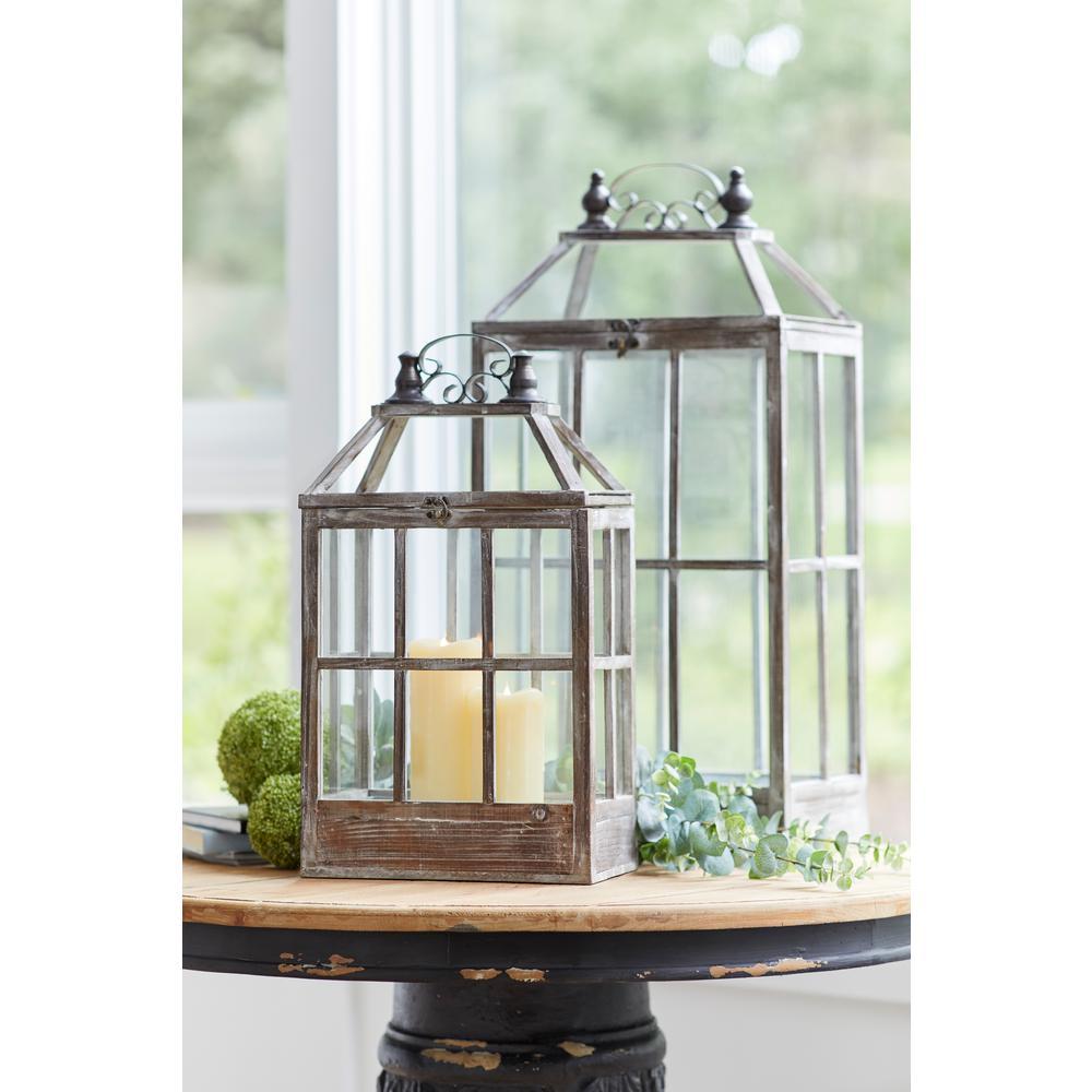 Antique Brown Lantern (Set of 2)