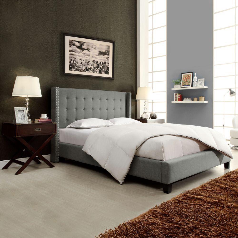 Franklin Park Grey Queen Upholstered Bed