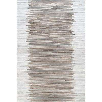 Ilona Ombre Brown 7 ft. 6 in. x 9 ft. 6 in. Area Rug