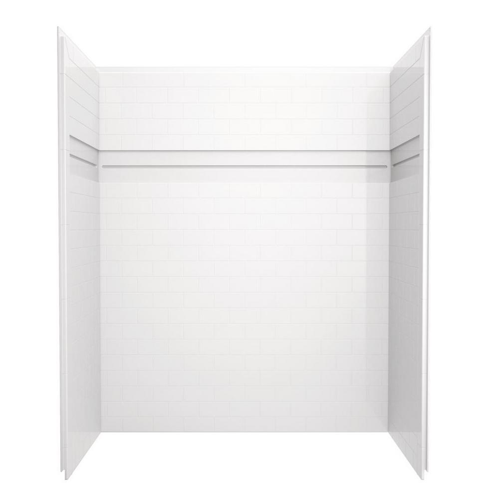 Delta UPstile 32 in. x 60 in. x 74 in. 3-Piece Direct-to-Stud ...
